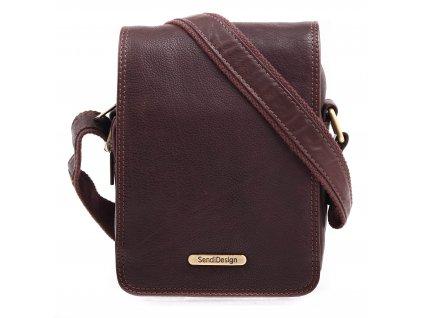 Pánská kožená taška přes rameno Sendi Design CT 708 hnědá