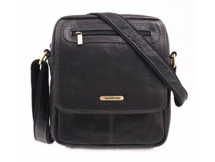 Pánská kožená taška přes rameno Sendi Design CT 726 černá