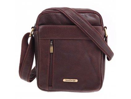 Pánská kožená taška přes rameno Sendi Design CT 713 hnědá