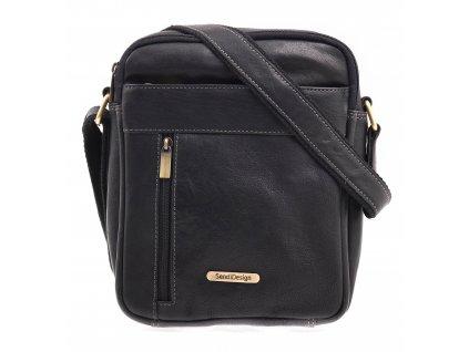 Pánská kožená taška přes rameno Sendi Design CT 713 černá