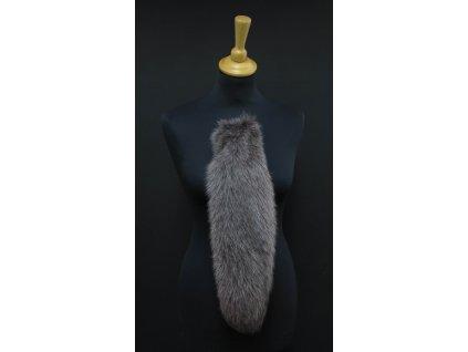 Kožešinový ohon z barvené polární lišky č. 149 - světle hnědý 43 cm