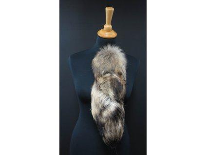 Kožešinový ocas (ohon) z mývalovce přírodní č. 156 délka 40 cm