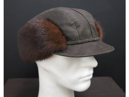 lovecká kožešinová čepice CEKO68