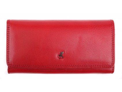 Červená kožená peněženka Cosset 4467 Red Komodo