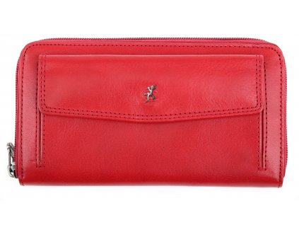 Dámská kožená peněženka penál Cosset 4491 Red Komodo červená