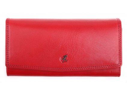 Kožená peněženka Cosset 4466 Red Komodo červená