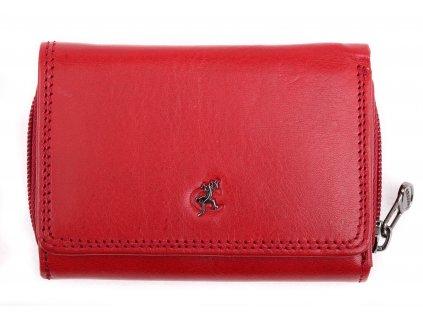 Malá kožená peněženka Cosset 4511 Red Komodo červená