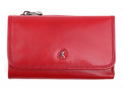 Kožená peněženka Cosset 4510 Red Komodo červená