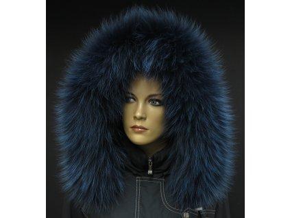 Kožešinový lem na kapuci z finského mývalovce 1060 BLUE