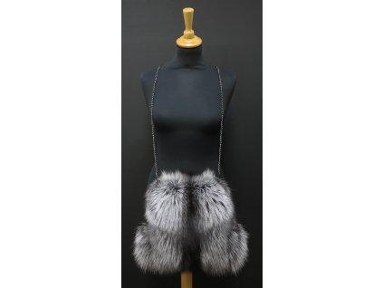 Kožešinový rukávník (štucl) ze stříbrné lišky ST08