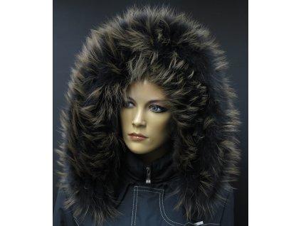Kožešinový lem na kapuci z mývalovce - 9071 BLACK BROWN