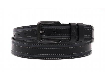 Pánský kožený opasek Black Hand 115-98 černý
