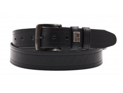 Pánský kožený opasek Black Hand 003-98 černý