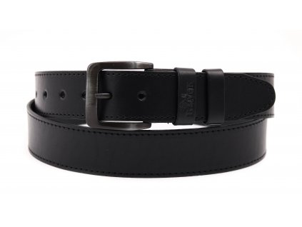 Pánský kožený opasek Black Hand 006-98 černý