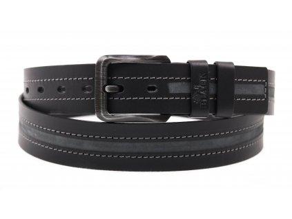 Pánský kožený opasek Black Hand 115100-98 černý