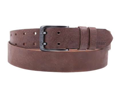 Pánský kožený opasek Black Hand 005-80 hnědá patina