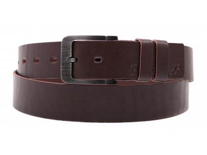 Pánský kožený opasek Black Hand 106-78 hnědý