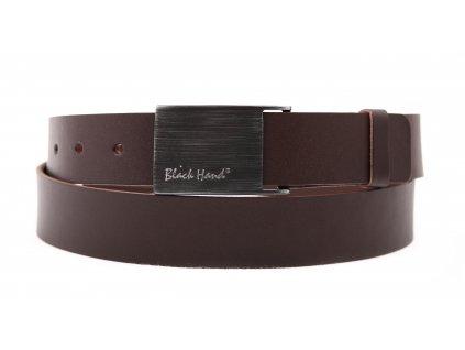 Pánský kožený opasek Black Hand 065-78 hnědý