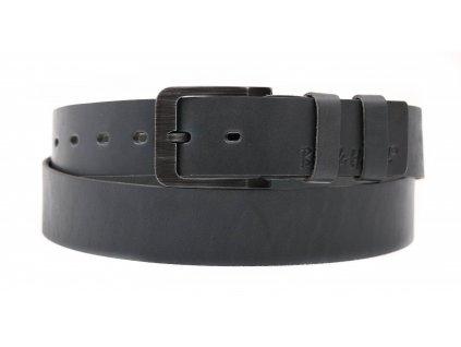 Dámský kožený opasek Black Hand 106-48 tmavě šedý