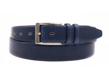 Pánský kožený opasek do obleku Penny Belts 3573 tmavě modrýPánský kožený opasek do obleku Penny Belts 3573 tmavě modrý