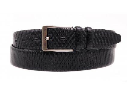 Pánský kožený opasek do obleku Penny Belts 3574 černý
