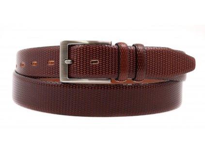 Pánský kožený opasek do obleku Penny Belts 3575 tmavě hnědý