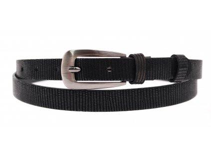 Dámský úzký kožený opasek Penny Belts 2044 černý