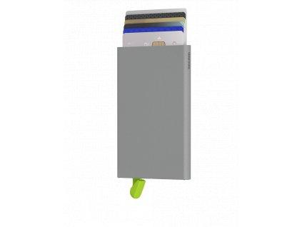 Šedé kovové pouzdro na karty SECRID Cardprotector Powder Concrete