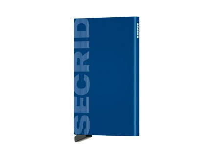 Hliníkové pouzdro na platební karty Cardprotector SECRID Laser Logo zářivá modrá