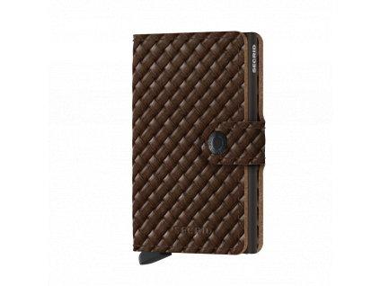 Kožená peněženka SECRID Miniwallet Basket Brown hnědá