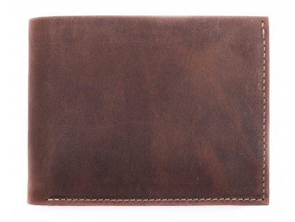 Pánská kožená peněženka Hajn 587451.4 hnědá vintage