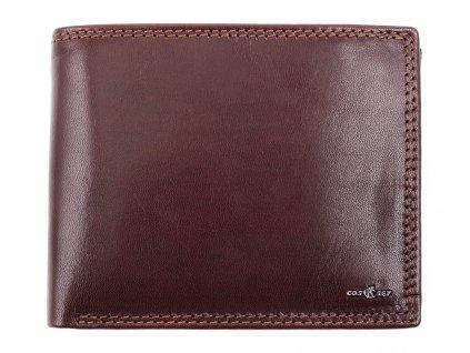 Pánská kožená peněženka Cosset 4465 Unno hnědá