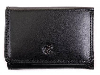 Malá dámská kožená peněženka Cosset 4509 Komodo černá