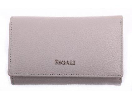 Dámská kožená peněženka Segali SG 7074 šedá