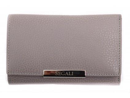 Dámská kožená peněženka Segali SG 7074 šedohnědá
