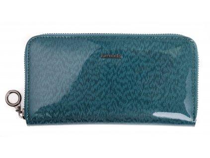 Velká dámská kožená peněženka Carmelo 2111H Aquamarine