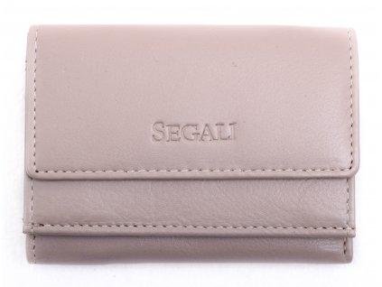 Malinká dámská kožená peněženka Segali SG1756 MINI šedohnědá