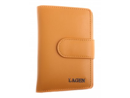 Dámská  kožená peněženka Lagen 50313 žlutá