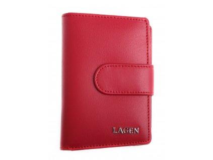Dámská  kožená peněženka Lagen 50313 červená