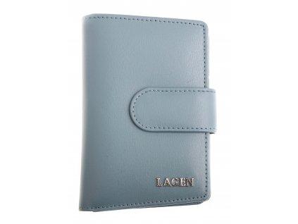 Dámská  kožená peněženka Lagen 50313 modrá