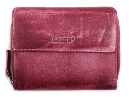Dámská  kožená peněženka Lagen 932 Plum světle fialová