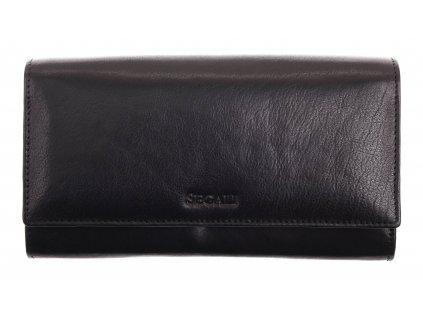 Dámská kožená peněženka Segali SG - 28 černá