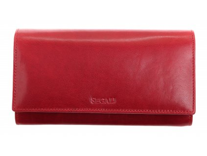 Dámská kožená peněženka Segali SG - 28 vínově červená