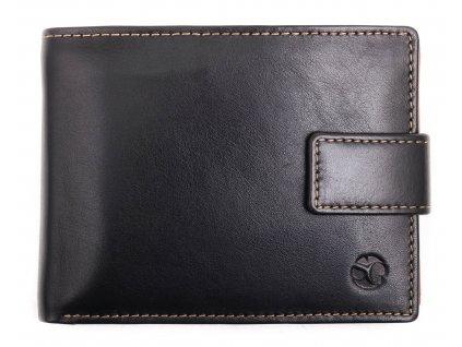 Pánská kožená peněženka Segali 7129 černá + koňakově hnědá uvnitř