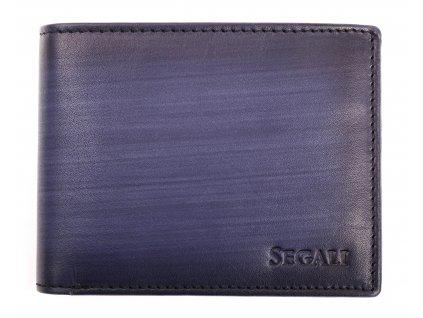 Pánská kožená peněženka Segali 929.204.2071 tmavě modrá patina