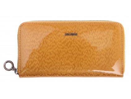 Velká dámská kožená peněženka Carmelo 2111H ZL zlatá