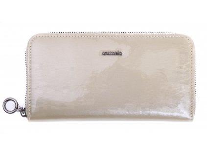 Velká dámská kožená peněženka Carmelo 2111G K krémová
