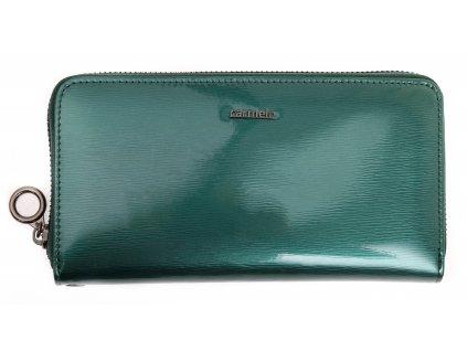 Velká dámská kožená peněženka Carmelo 2102G ZELENÁ