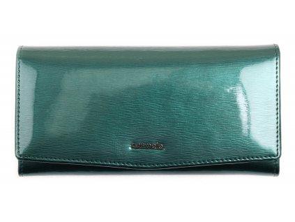 Velká dámská kožená peněženka Carmelo 2109F zelená