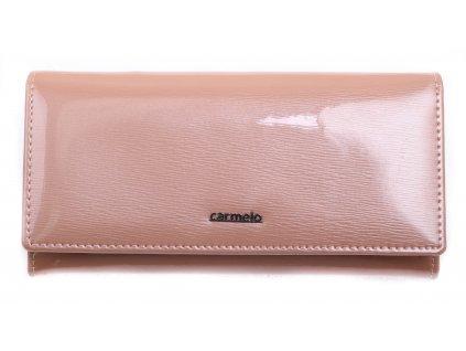 Velká dámská kožená peněženka Carmelo 2110G R růžová